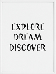 Plakat Explore Dream Discover 40 x 50 cm