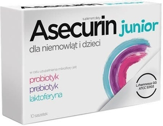 Asecurin junior x 10 saszetek