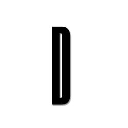 Litera czarna akrylowa 8 cm Design Letters D