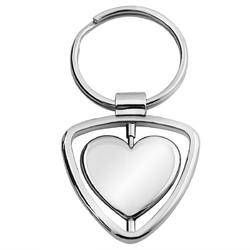 Brelok breloczek do kluczy spinning heart prezent z grawerem