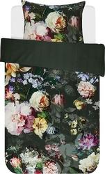 Pościel fleur ciemnozielona 135 x 200 cm z poszewką na poduszkę 80 x 80 cm