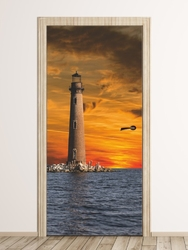 Fototapeta na drzwi latarnia morska fp 6253