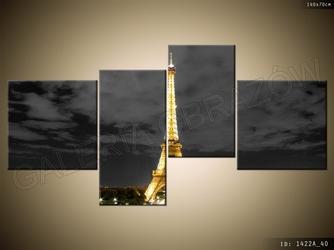 Wieczorne zdjęcie wieży eiffla