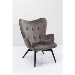 Kare design :: fotel black vicky velvet grey