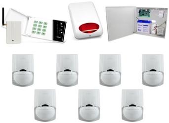 Zestaw alarmowy satel ca-10 led, gsm, 7 czujek, sygnalizator zewnętrzny - szybka dostawa lub możliwość odbioru w 39 miastach