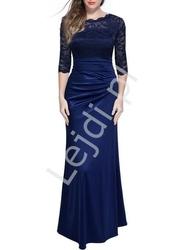 Niebieska elegancka suknia wieczorowa - wioletta