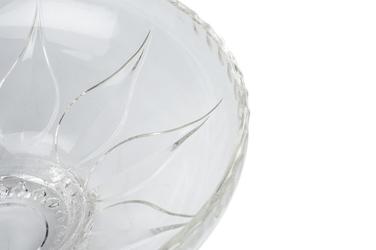 Owocarka szklana karakas 30 cm okrągła