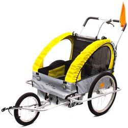 Przyczepka rowerowa vivo voyager bt-001 szaro-żółta