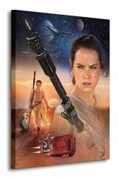 Star Wars Episode VII Rey Art - obraz na płótnie
