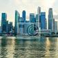Fototapeta singapore dzielnicy finansowej