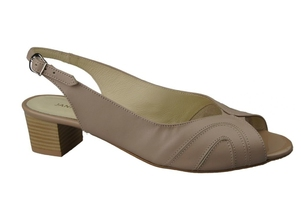 Obuwie damskie sandały skóra naturalna cappuccino lico 991 elitabut - cappuccino