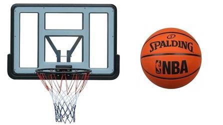 Tablica kosz do koszykówki spartan z + piłka spalding nba logo
