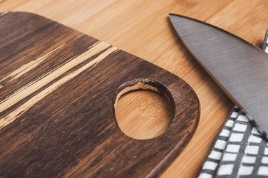 Kinghoff bambusowa deska do krojenia 30 x 23 x 0.9 cm