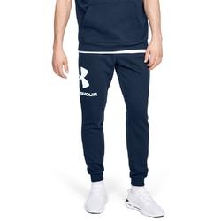 Spodnie dresowe męskie under armour rival fleece sportstyle logo jogger - granatowy