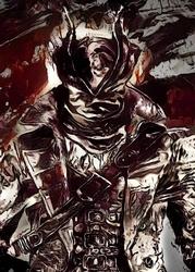 Legends of bedlam - the hunter, bloodborne - plakat wymiar do wyboru: 21x29,7 cm