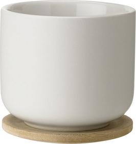 Filiżanka do herbaty theo z podstawką piaskowa
