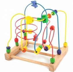 Drewniana przeplatanka sensoryczna labirynt edukacyjny viga toys