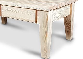 Drewniana ława do salonu z szufladami karo