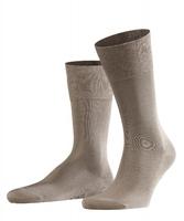 Eleganckie beżowe bawełniane skarpety falke tiago rozmiar 45-46