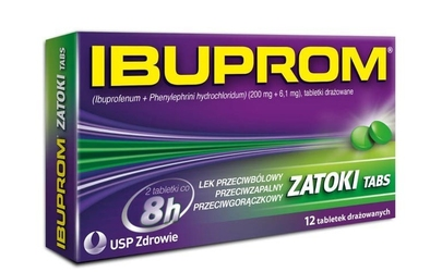 Ibuprom zatoki tabs x 12 tabletek