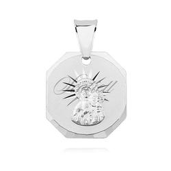 Medalik ze srebra 925 matka boska częstochowska, zawieszka ośmioboczna