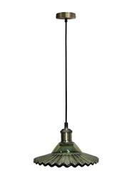 Lampa wisząca geneva zielone szkłoantyczny