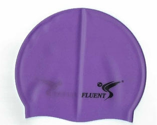 Czepek silikonowy fluent fioletowy