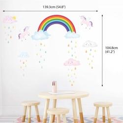Naklejki tęcza, chmurki i jednorożce unicorn
