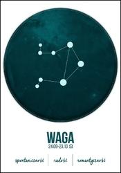 Znak zodiaku, waga - plakat wymiar do wyboru: 40x50 cm