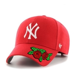 Czapka z daszkiem 47 brand mlb new york yankees 47 mvp custom rose - b-mvp17wbv-rd - rose