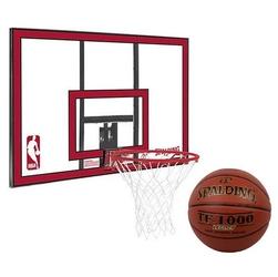 Zestaw tablica do koszykówki spalding nba polycarbonat backboard + piłka spalding tf-1000 legacy