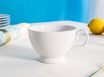 Filiżanka śniadaniowa porcelana karolina mariapaula biała 350 ml