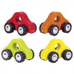 Samochodziki do rączki na gumowych kołach