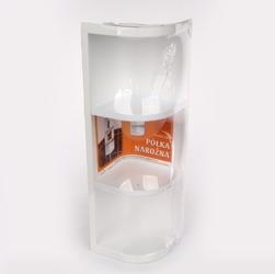 Półka łazienkowa artgos narożna potrójna  trzypoziomowa biała