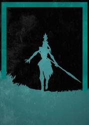League of legends - kalista - plakat wymiar do wyboru: 30x40 cm