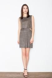 Ciemnozielona sukienka mini z wycięciami