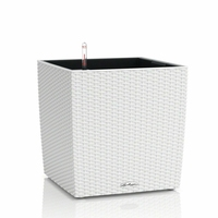 Donica lechuza cube cottage 40 - biała - biały