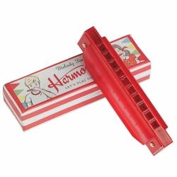 Harmonijka ustna w pudełku, czerwona, Rex London