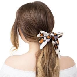 Gumka do włosów frotka scrunchie apaszka ecru