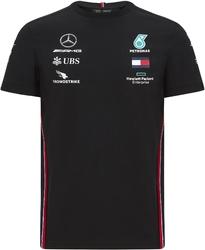 Koszulka mercedes amg petronas f1 2020 czarna - czarny