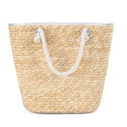 Torba damska koszyk plażowa pleciona duża słomiana