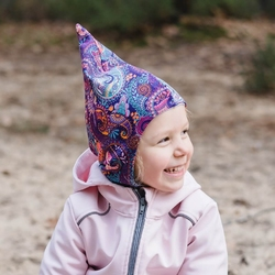 kominiarka - czapka skrzata orient fiolet