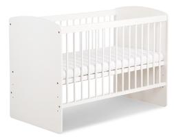 Białe łóżeczko z regulacją wysokości dna karolina ii 120x60