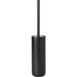 Szczotka do wc z pojemnikiem, czarna blomus modo stal pokryta tytanem b69081