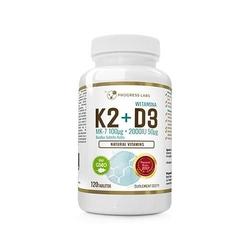 Vitamin k2 mk7 100mcg d3 2000iu 120 tabs