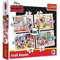 Puzzle 4w1 myszka mini 34355 trefl minnie mouse