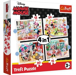 Puzzle 4w1 myszka mini 34355 trefl minnie mouse