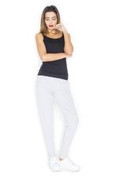 Szare spodnie dresowe joggersy ze zwężanymi nogawkami