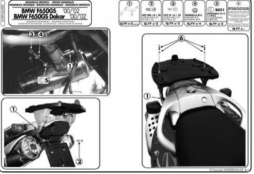 Stelaż centralny kappa k6390 do bmw f650 gs 00-03