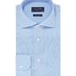 Elegancka błękitna koszula męska z dzianiny slim fit 45